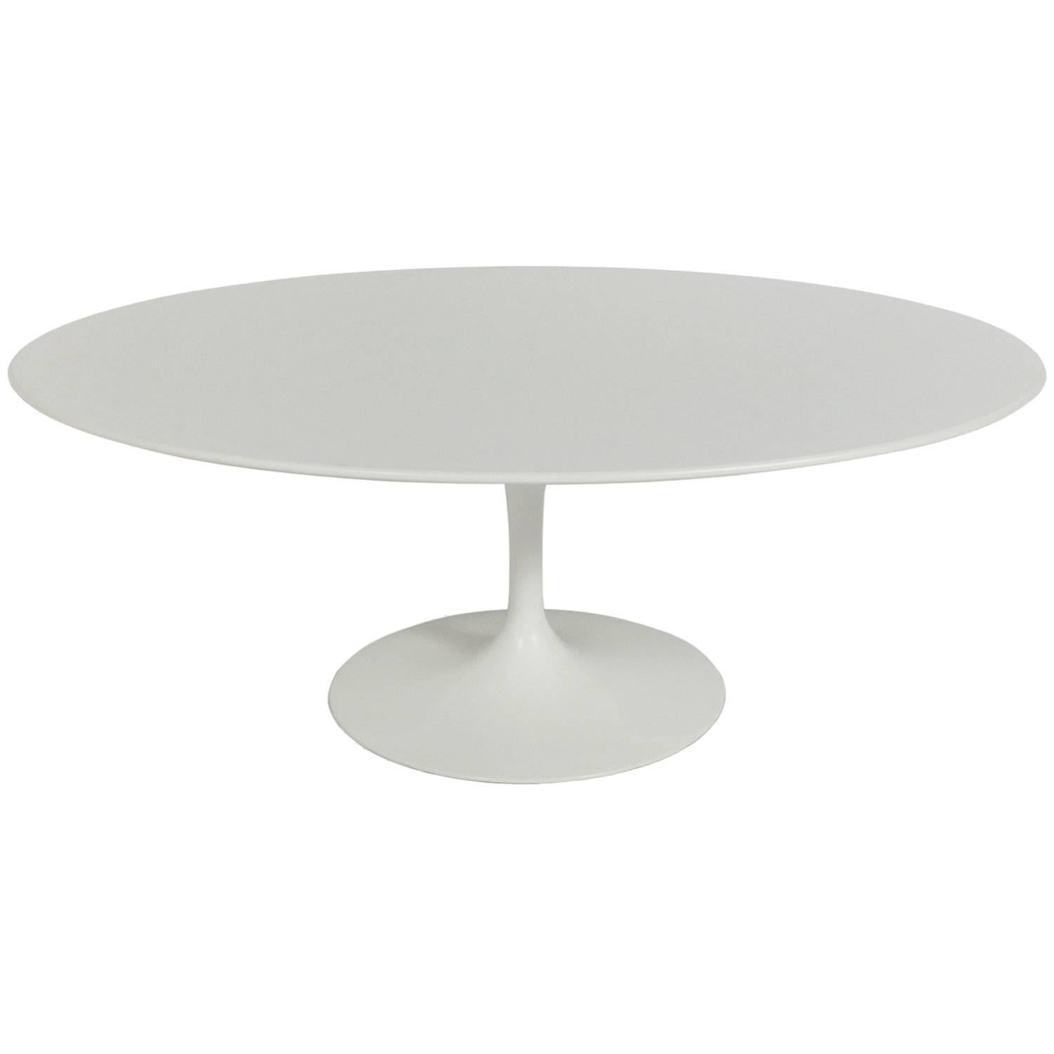 Bon Oval Tulip Coffee Table By Eero Saarinen For Knoll For Sale