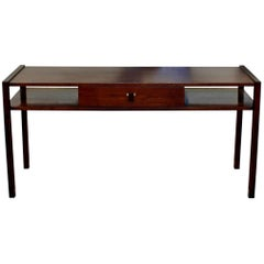 Mid-Century Modern Edward Wormley for Dunbar Sofa Console Table Walnut Rosewood