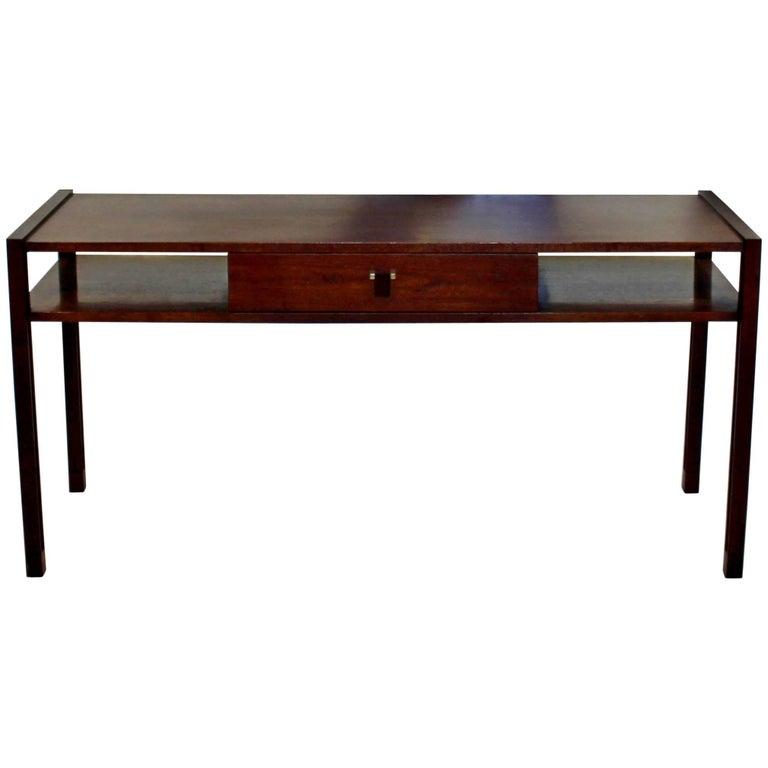Mid-Century Modern Edward Wormley for Dunbar Sofa Console Table Walnut Rosewood