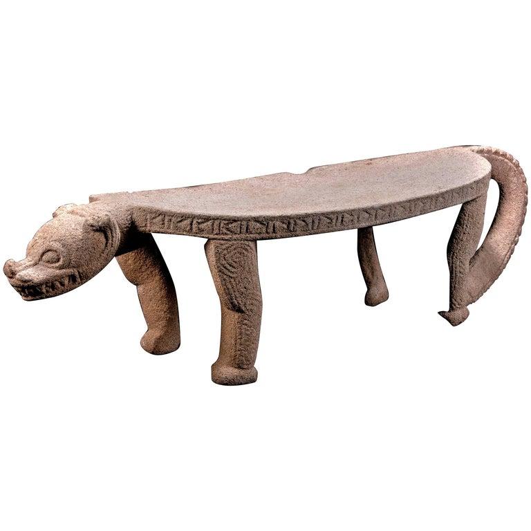 Published Pre-Columbian Nicoya Ceremonial Stone Seat, Ex Arizona Museum For Sale