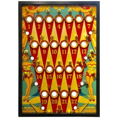 Vintage Custom Framed Section of Electric Pinball Game Play Field, circa 1960