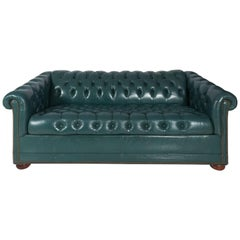 Leather Chesterfield Sofa, circa 1970
