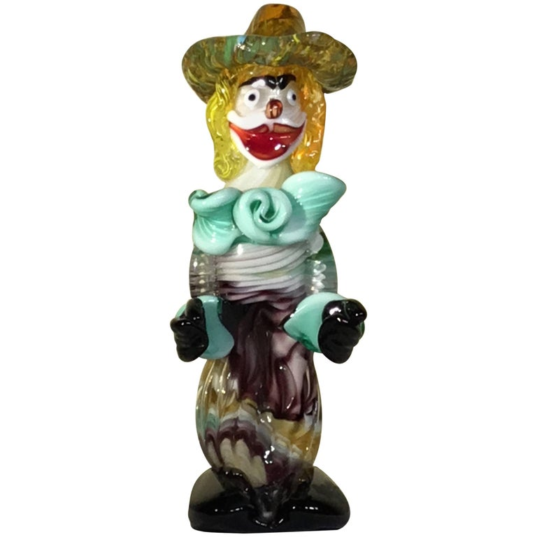 Whimsical Murano Glass Clown