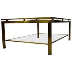 Maison Jansen Two-Tier Brass, 1970 Coffee Table