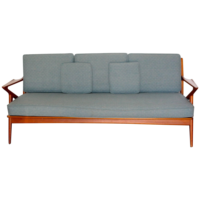 Danish mid century modern poul jensen for selig z teak sofa at 1stdibs