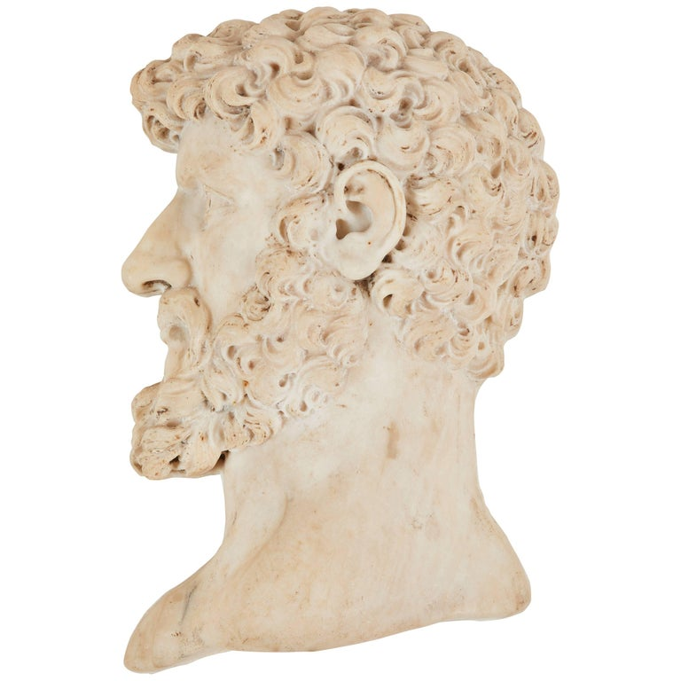 19th Century Italian Marble Relief For Sale