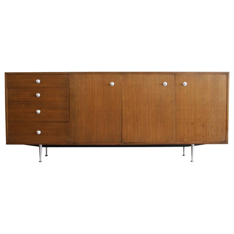 Early Walnut BCS Credenza or Server by George Nelson for Herman Miller