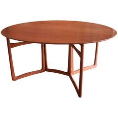 Teak Drop-Leaf Dining Table by Peter Hvidt & Orla Mølgaard