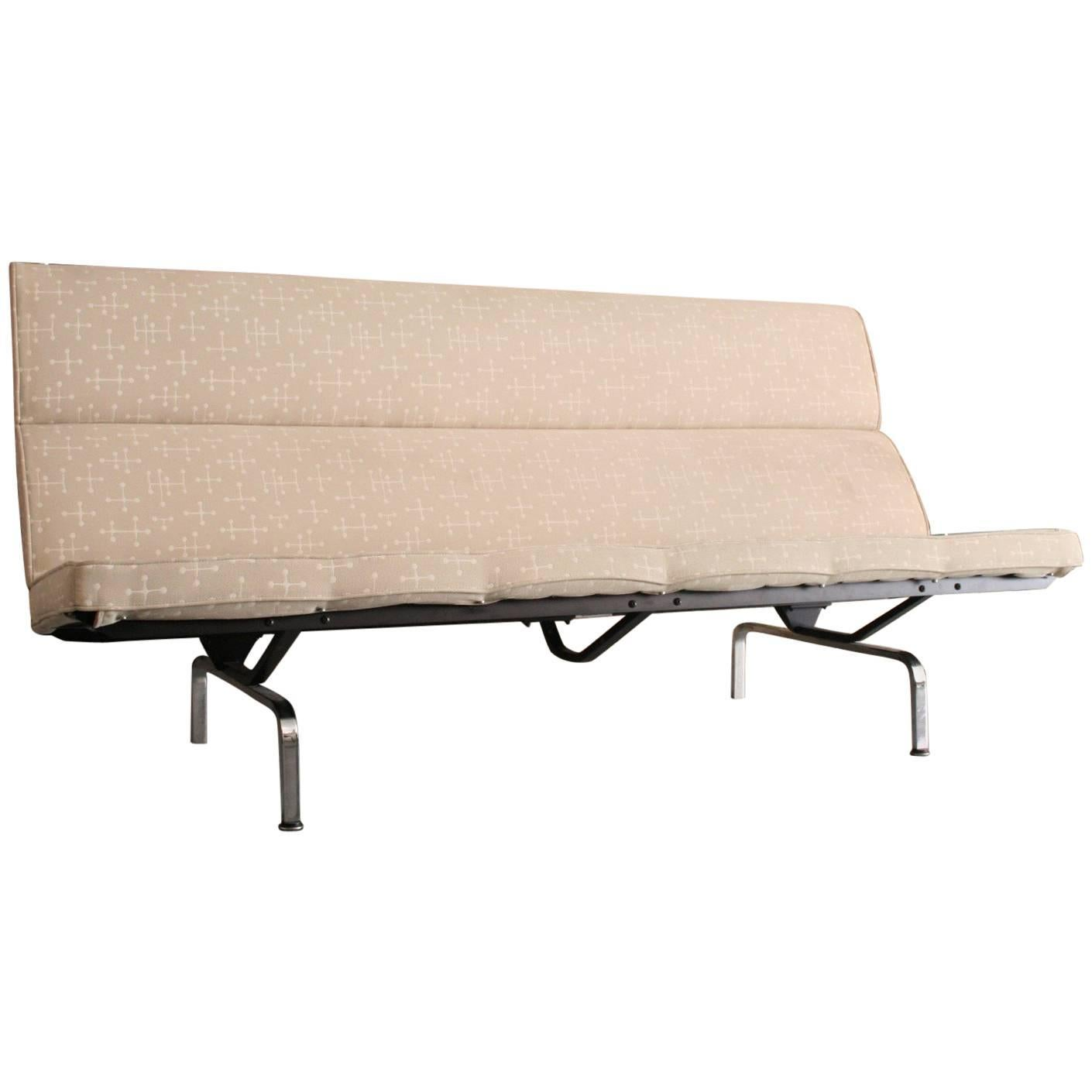 Eames Sofa Compact In Eames Fabric For Sale