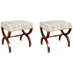 Early 19th Century Pair of Swedish Gustavian Stools