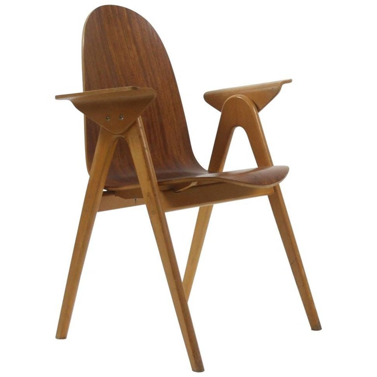 1953 Molded Plywood Armchair by Yngve Ekstrom For Sale