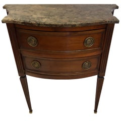Small Continental Commode with Marble Top, Early 19th Century