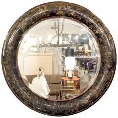 """Karl Springer Large """"Bolection Molding Mirror"""" in Pennshell, 1975"""