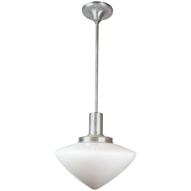 Aluminum Pendant with Acorn Shade For Sale