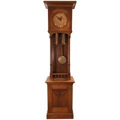 Tall Bauhaus Grandfather Clock, Austrian, circa 1920