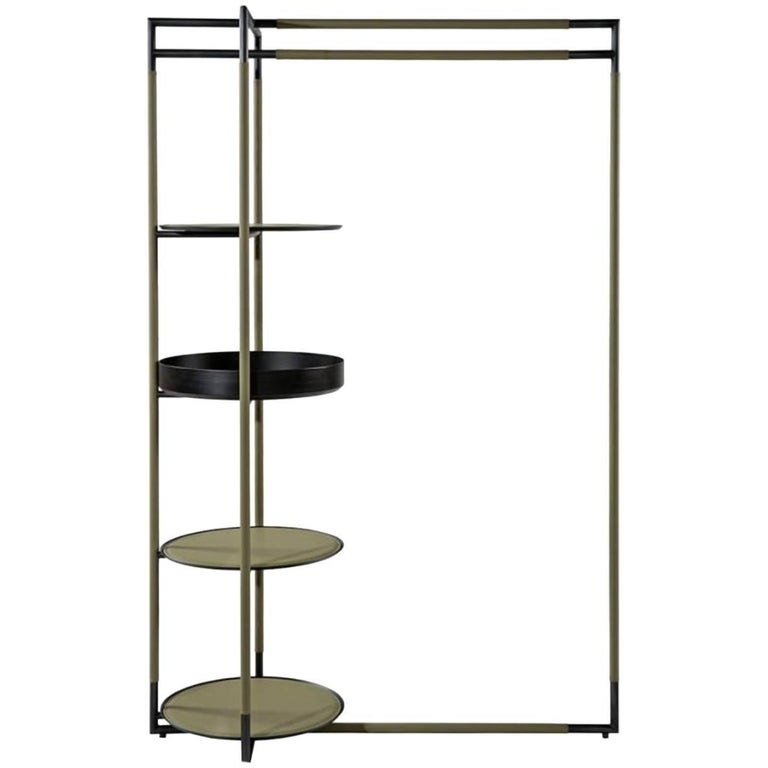 Bak Valet Stand by Ferruccio Lavi in Leather and Steel in Various Colors