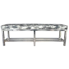 Nickel Plated Bench with Leather Seat