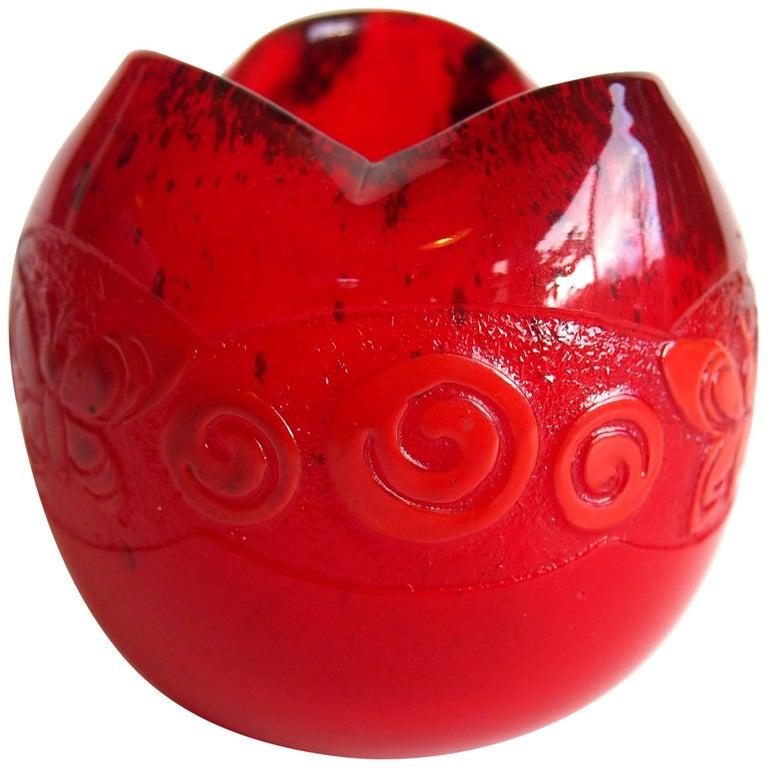Legras Art Deco Cameo Butterfly Vase