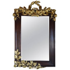 Late 19th Century Mahogany Mirror