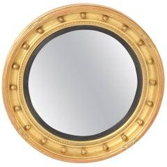 George III Style Giltwood Bulls Eye Mirror