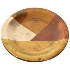 """Mid-Century Modern Married Metals """"Los Castillo"""" Dish"""