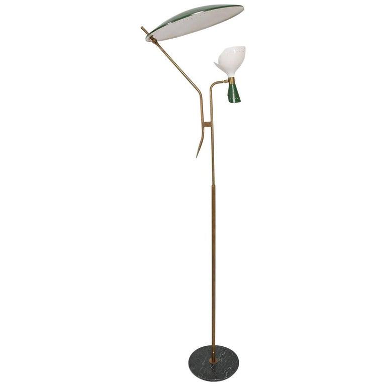 Mid-Century Modern Italian Floor Lamp Attributed to Stilnovo