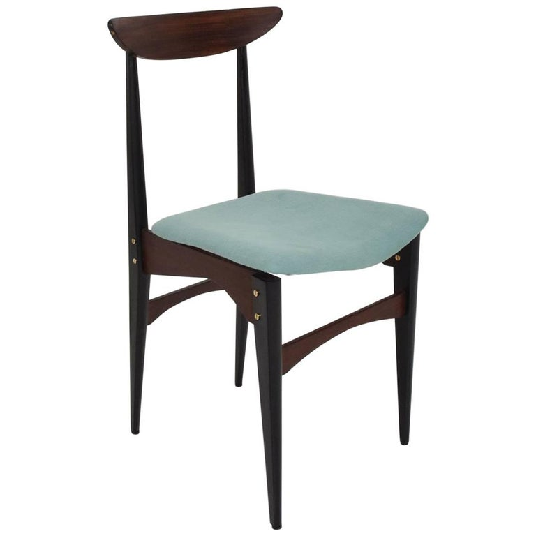Mid-Century Modern Italian Side Chair in The Style of Gio Ponti