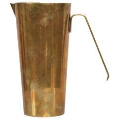 Mid-Century Modern Brass Pitcher Lino Sabattini