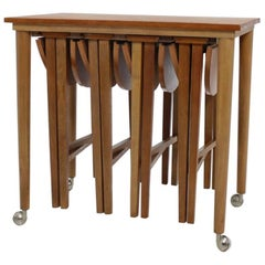 Set of Midcentury Nesting Tables, Designed by Poul Hundevad, 1960s