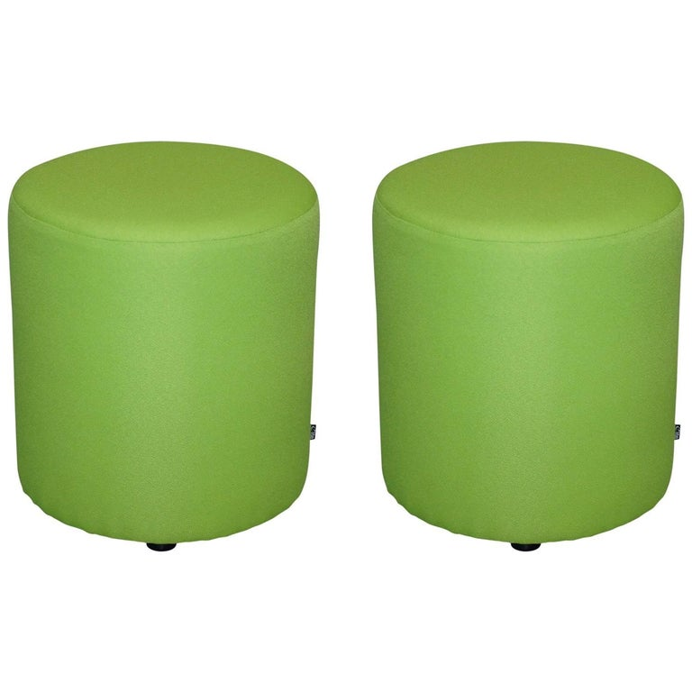 Pair of Elite Lime Green Segment Stools Great Contemporary Bench Pieces