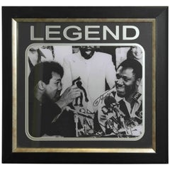 Signed Joe Frazier Thrilla in Manilla & Muhammad Ali Boxing Picture Autographed