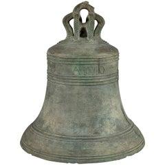 17th Century Bronze William Brend Bell, Dated 1619