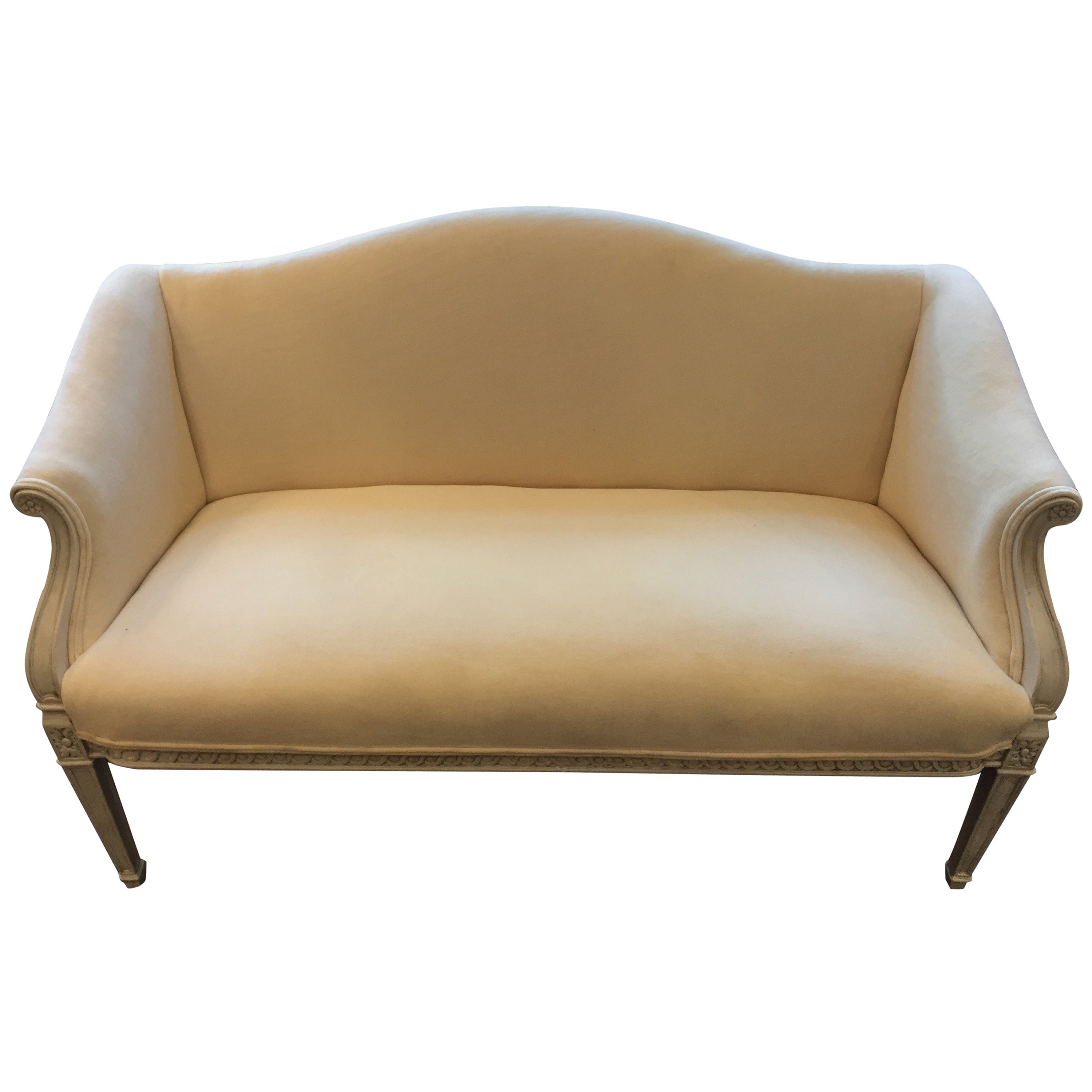 wood org id settee f at french furniture seating and velvet painted bamboo style settees loveseat