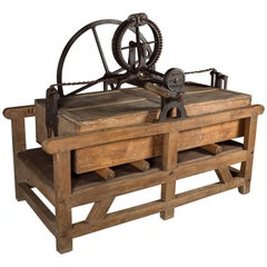 Victorian Baker Box Mangle in Working Condition