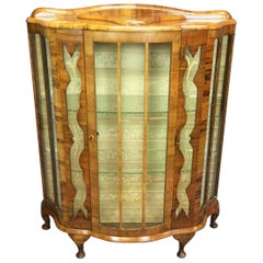 Art Deco Walnut Cabinet from England