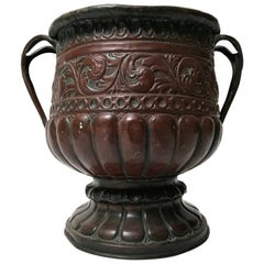 17th Century Italian Copper Cachepot