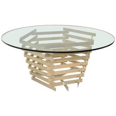Stacked Aluminum Dining Room Table Base by Paul Mayen