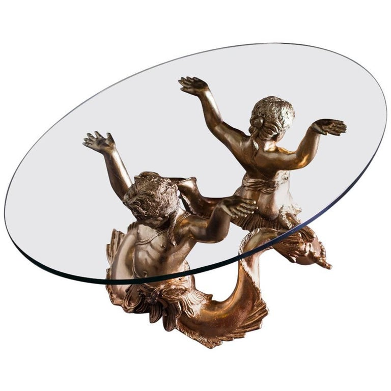 Cast Bronze Glass Jaguar Coffee Table For Sale At 1stdibs
