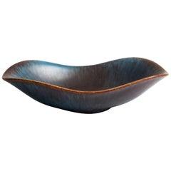 Gunnar Nylund Stoneware Bowl for Rörstrand, Midcentury Scandinavian Ceramics