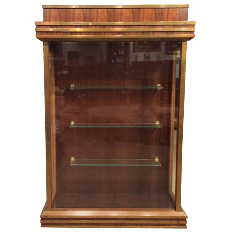 Fine Quality Art Deco Period Bronze Mounted Display Cabinet For Sale