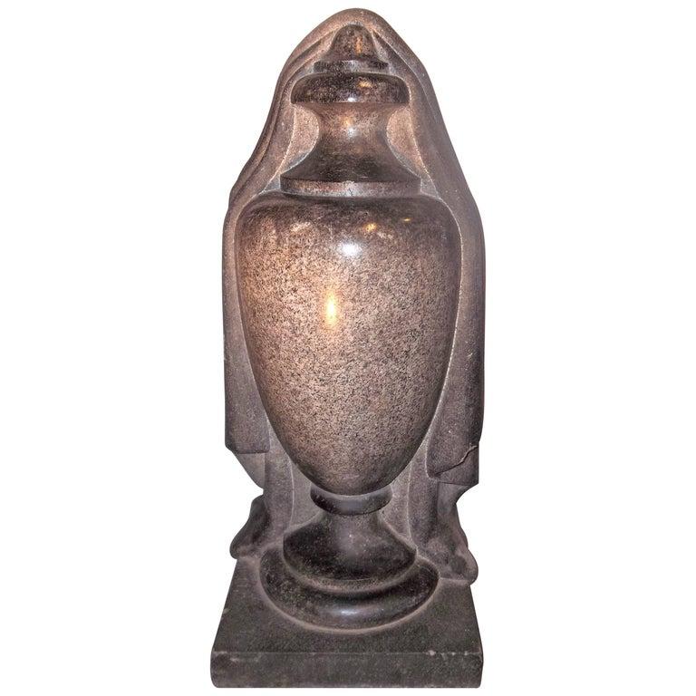 Carved Granite Garden Urn