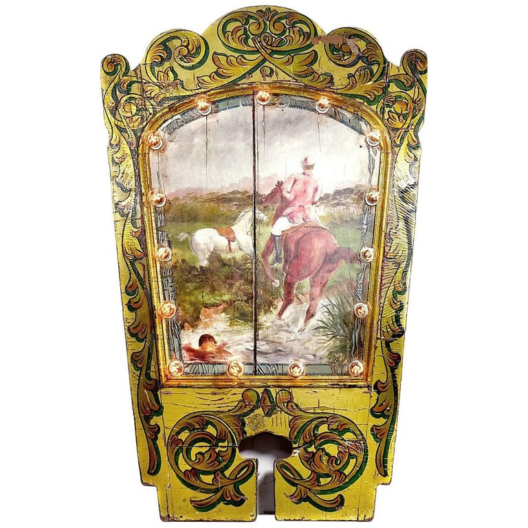 1800s Carousel Centre Panel For Sale