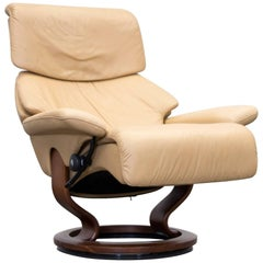 Ekornes Stressless Designer Spirit Chair Ocre Brown Leather Relax Function Couch