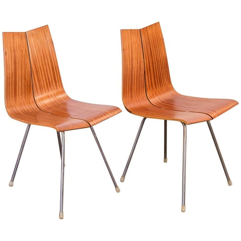 Pair of Hans Bellmann GA Moulded Dining Chairs