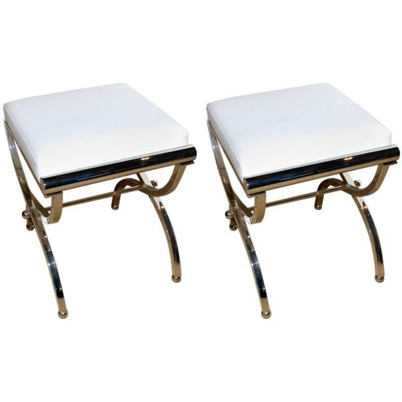 "Charles Hollis Jones 1961 Pair of Original ""Empire"" Style Benches"