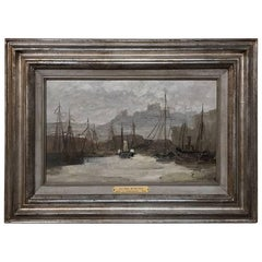 19th Century Framed Oil Painting on Canvas by Léon Philippet