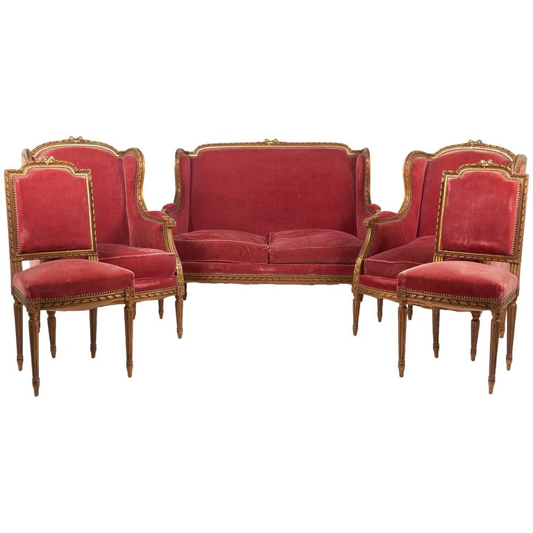 Louis xvi salon set for sale at 1stdibs for Salon louis 16