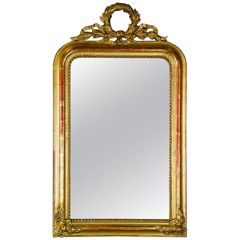 French 19th Century Louis Phillippe gilded Mirror