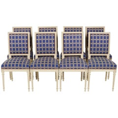 Set of Eight Louis XVI Style Chairs