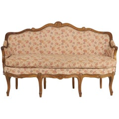 Louis XV Style Walnut Sofa or Settee